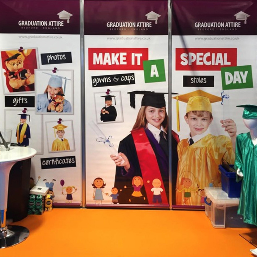 Graduation Attire Childcare Expo 2016 Display Backdrop