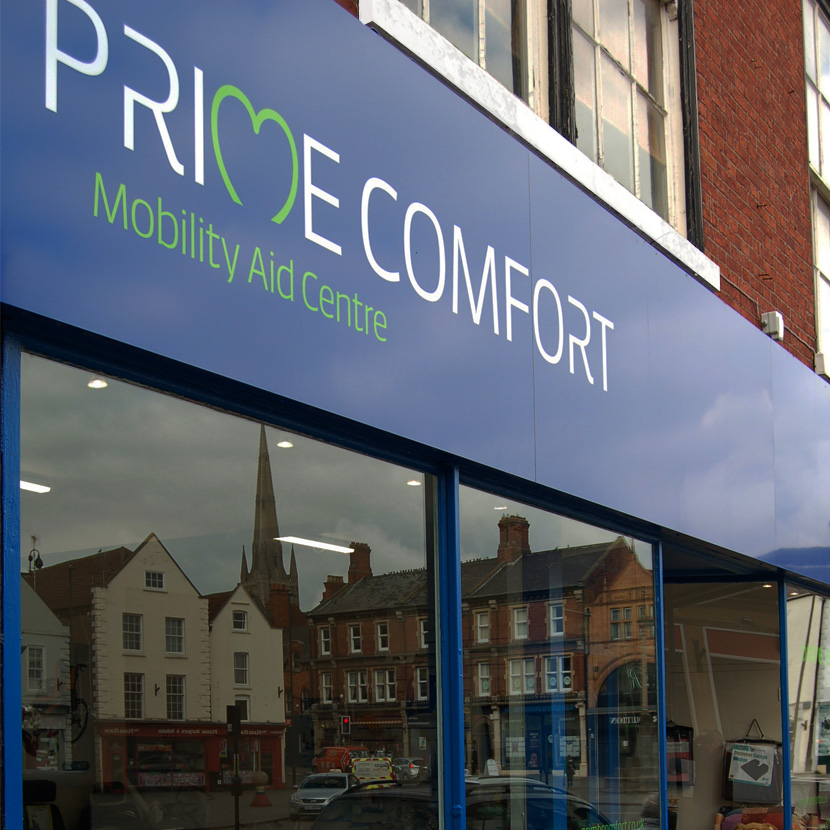 Prime Comfort Front of Store Main Sign