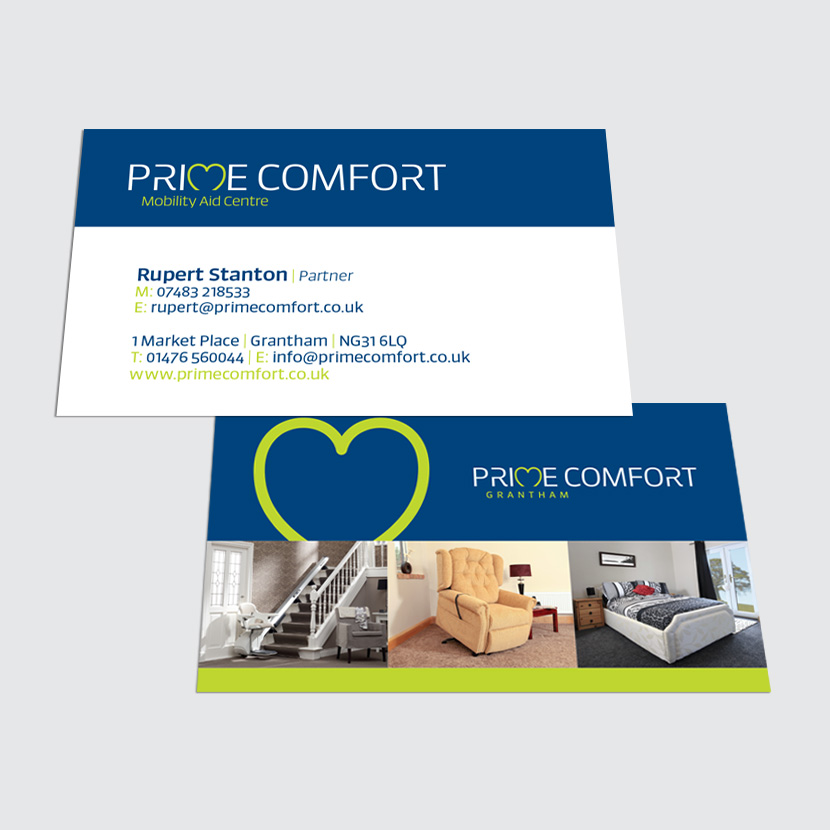 Prime Comfort Double-sided Business Card