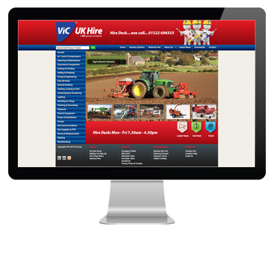 ViC Group UK Hire: CMS Website
