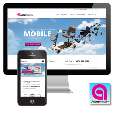 Action 2 Mobility Responsive Website