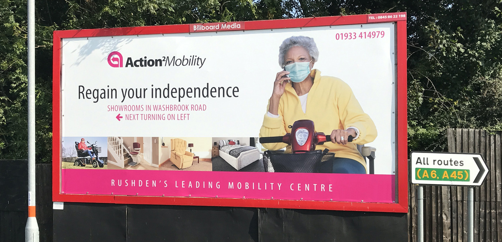 Billboard for Action 2 Mobility