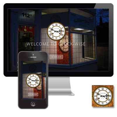 Clock-wise responsive website