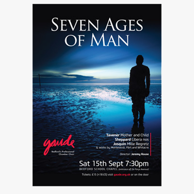 Gaude Choir Seven Ages of Man Poster