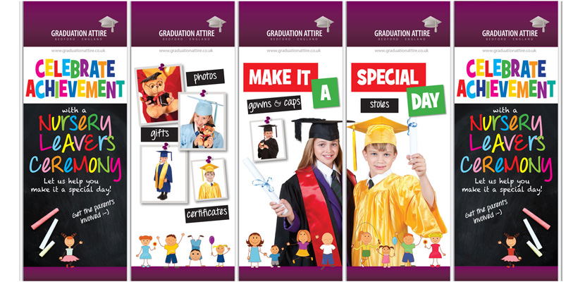 Graduation Attire Childcare Expo 2016 Backdrop Display
