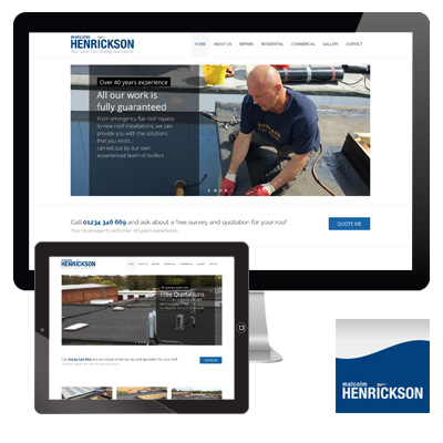Malcolm Henrickson Flat Roofing Services responsive website