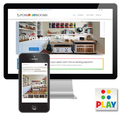 poshplayrooms.co.uk responsive website