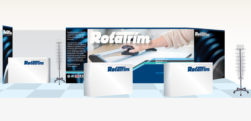 Rotatrim Exhibition Stand Display